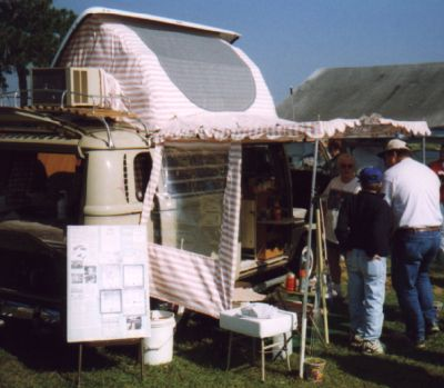 Hereu0027s another mystery a Dormobile roof with pink/white canvas (love the AC boot!) and matching canopy with windowed side curtains. A Dormobile tent? & Miscellaneous Tents Page